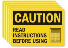 Manufacturer's Instructions